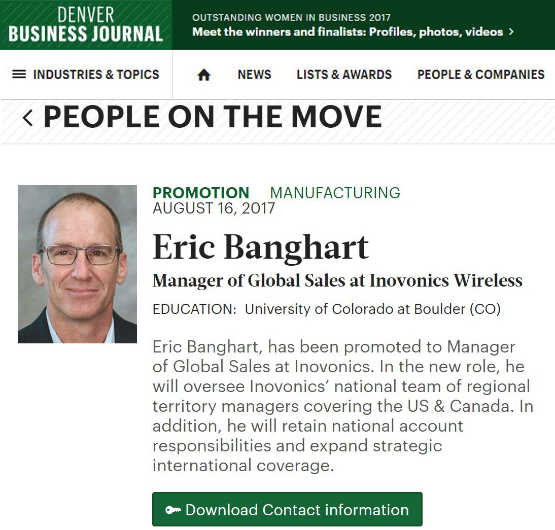 Denver Business Journal: Eric Banghart Promoted To Manager
